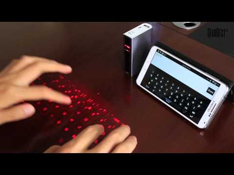 SHOWME Bluetooth Laser Projection Virtual Keyboard from GearBest.com